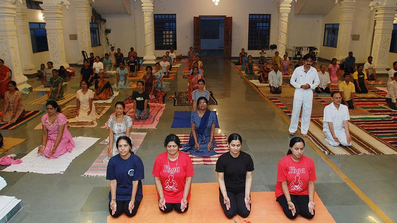 Yoga at Sri Gopalakrishna Temple